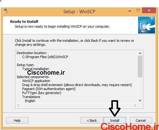 نصب winSCP6